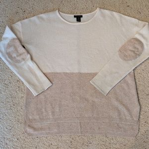Only Mine cashmere sweater with elbow patches